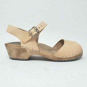 MIA Leather Stapled Clogs Sandals